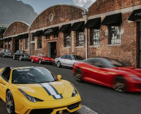 Crossley & Webb - Ferrari Showroom - Metal Windows - Cars