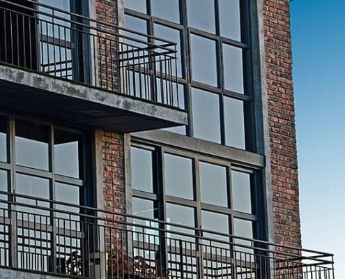 Metal Windows - Castle Brewery - Outside Windows