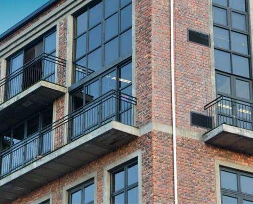 Metal Windows - Castle Brewery - Outside Windows View