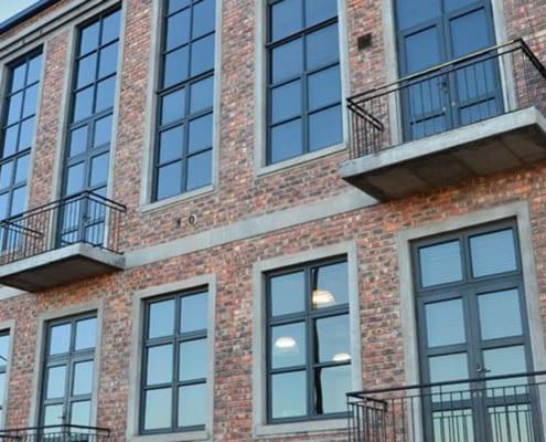 Metal Windows - Castle Brewery - Outside Window View