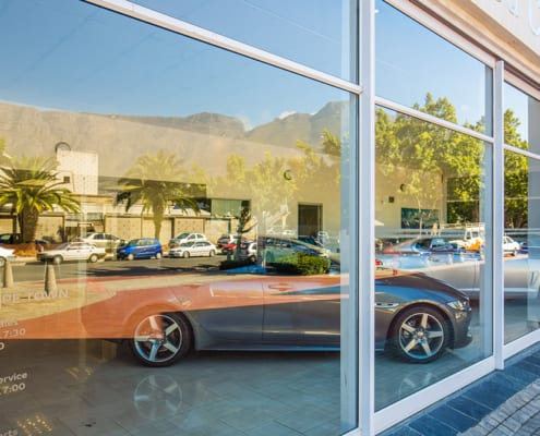Jaguar Showroom - Metal Windows