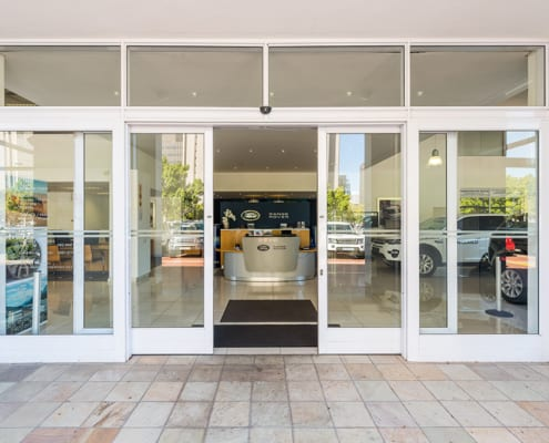 Land Rover - Showroom Entrance - Metal Windows