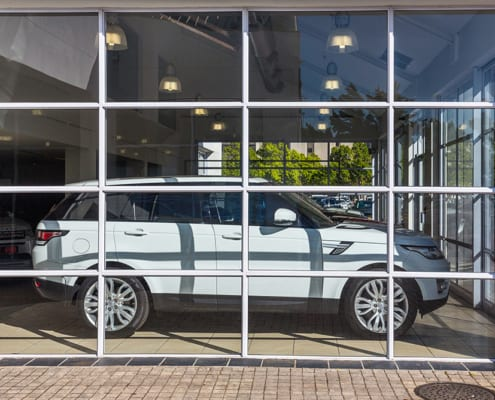 Land Rover - Showroom - Metal Windows