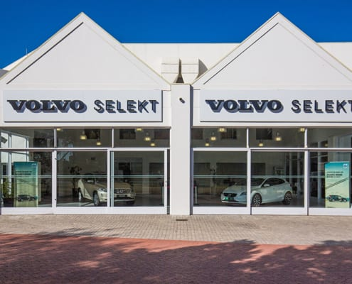 Volvo - Metal Windows - Showroom Outside View