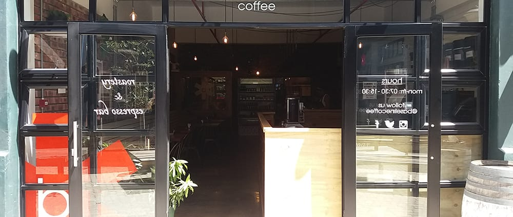 Baseline coffee - aluminium doors - Metal windows