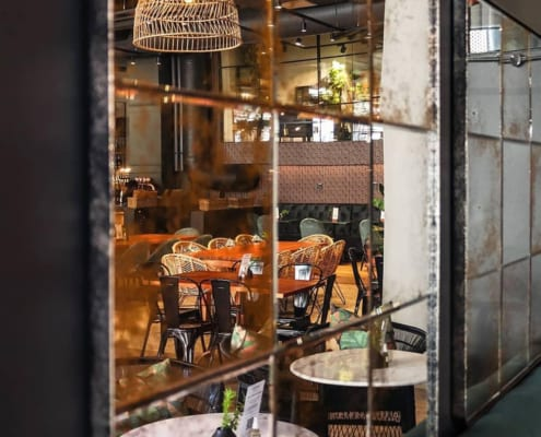 Fratteli Palmieri Restaurant - Metal Windows - Inside View