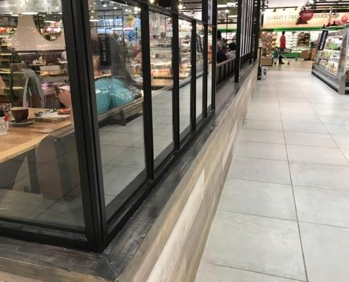 Knead bakery in PnP Constantia - Walk Way - Metal Windows