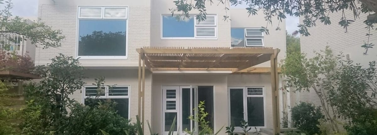 Forest Glade Tokai Residential Family Home - Metal Windwos - Main House View