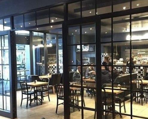 Steel Doors - Metal Windows - Aluminium Windows Restaurant