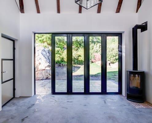 Silver Mist Estate - Metal Windows - Stacking Doors Closed