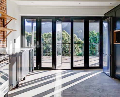 Silver Mist Estate - Metal Windows - Stacking Doors Outside