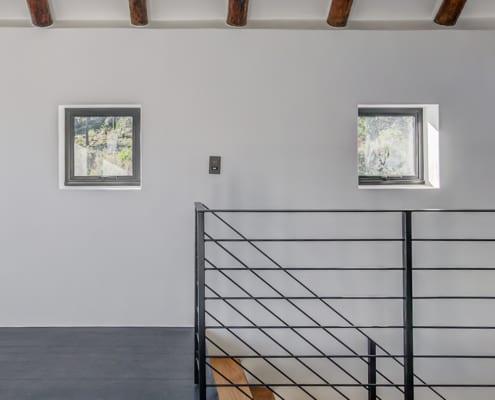 Silver Mist Estate - Metal Windows - Stairs Down