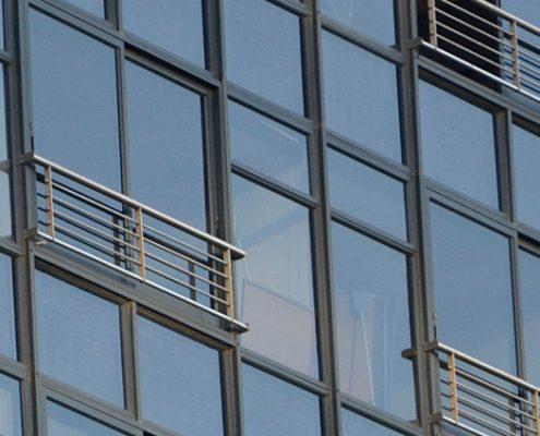 Two Adderley - Metal Windows - Exterior View
